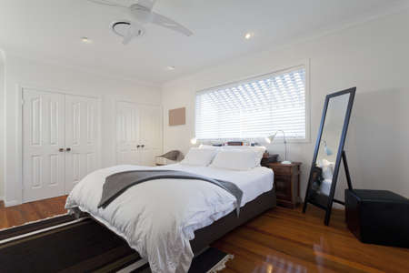 Stylish double bedroom in modern Australian home