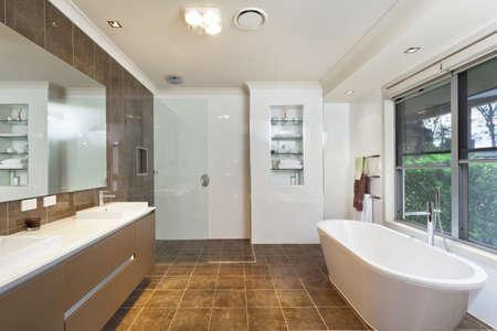 Modern bathroom in stylish Australian house