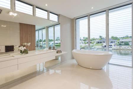 Modern bathroom in luxury Australian house