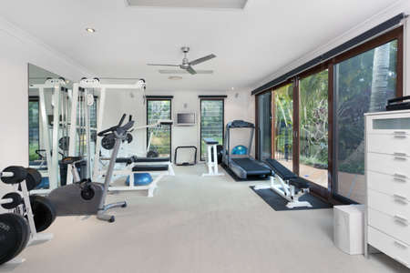 Photo for Private gym in luxury home - Royalty Free Image