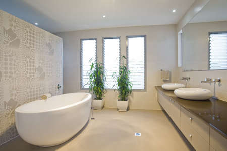 Luxury bathroom with twin sinks