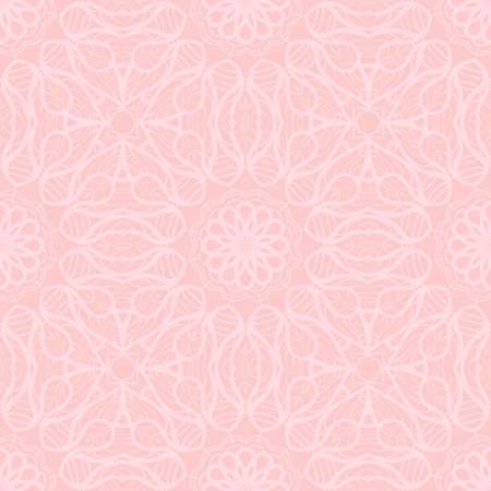 Illustration for art deco abstract floral seamless pattern . rose color monochrome vector illustration - Royalty Free Image
