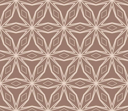 beautiful seamless geometric pattern with abstract floral design. modern vector illustration for design print, textile product, invitation background. beige color