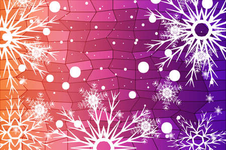 Illustration pour Christmas Background with snowflake. Abstract Vector Illustration - image libre de droit