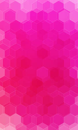Illustration for beautiful pink, red color hexagonal background. - Royalty Free Image
