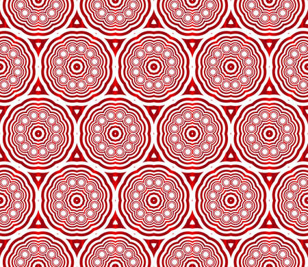Illustration pour Seamless vector pattern of ovals and circles in red gradient. Vector illustration - image libre de droit