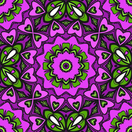 Illustration for Bright color seamless art pattern. fantasy ornament. vector illustration. - Royalty Free Image