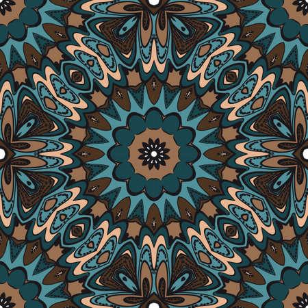 Illustration for Multicolor geometric fantasy seamless vector illustration. For fashion Design Templates, Wallpaper. - Royalty Free Image