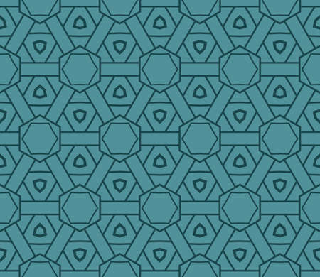 Illustration for Art-deco pattern. Seamless. Vector illustration. For invitation background, wallpaper. - Royalty Free Image