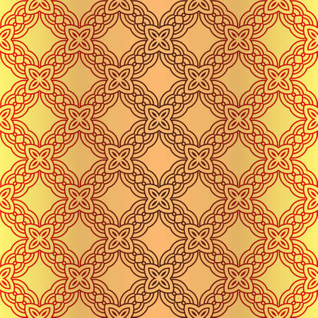 Illustration for Art Deco Pattern Of Geometric Elements. Seamless Pattern. Vector Illustration. Design For Printing, Presentation, Textile Industry. - Royalty Free Image