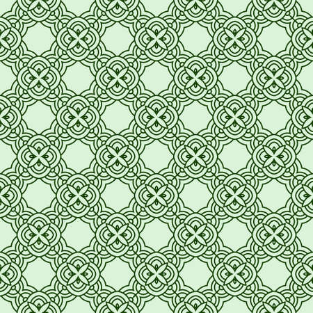 Illustration for Vector Seamless Pattern With Abstract Geometric Style. Repeating Sample Figure And Line. For Modern Interiors Design, Wallpaper, Textile Industry - Royalty Free Image