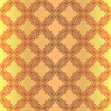 Illustration for Seamless Color Modern Pattern. Art-Deco Geometric Background. Graphic Design. Vector Illustration - Royalty Free Image
