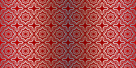 Illustration for Vector Seamless Pattern With Abstract Geometric Style. Repeating Sample Figure And Line. Paper For Scrapbook. Silver red color. - Royalty Free Image