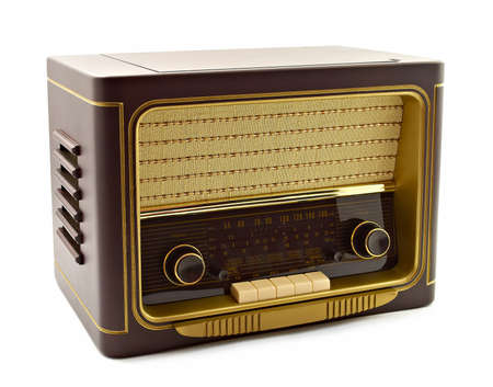 Foto de Vintage radio on white background - Imagen libre de derechos