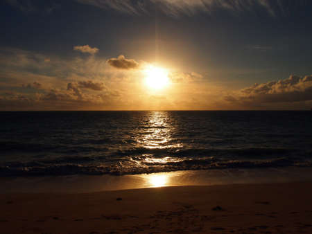 Sunrise on Waimanalo Beach o