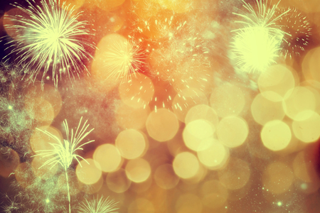 Photo pour Fireworks at New Year - holiday background - image libre de droit