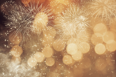 Photo pour Abstract Christmas background with fireworks - image libre de droit