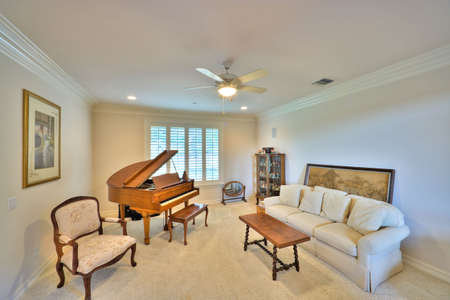 Well Appointed Showcase Living Room with Interior Decoration