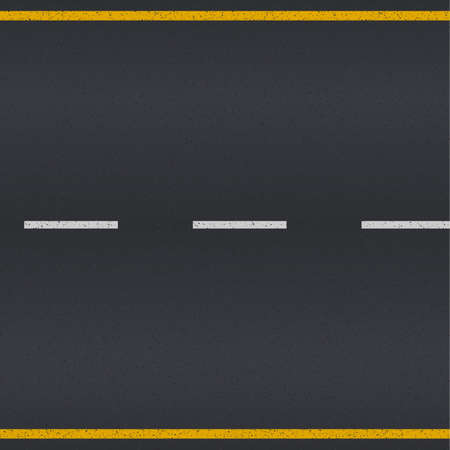 Illustration pour Asphalt road texture with white and yellow stripes - image libre de droit