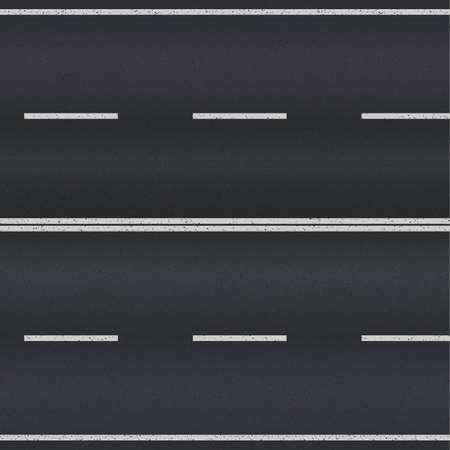 Illustration pour Asphalt road texture with white stripes. Vector illustration - image libre de droit