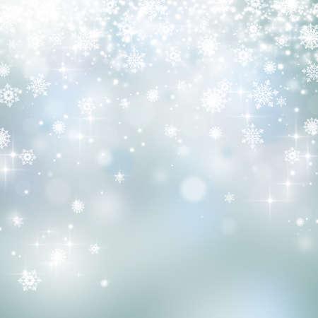 Foto de Lights and snowflakes on abstract Christmas background - Imagen libre de derechos