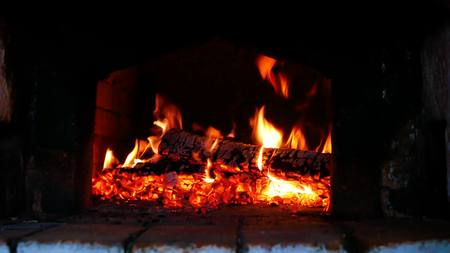 Photo for Wood-burning in the russian stove - Royalty Free Image