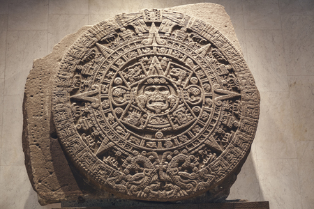 Photo for Stone of the sun - the Aztec calendar - Royalty Free Image