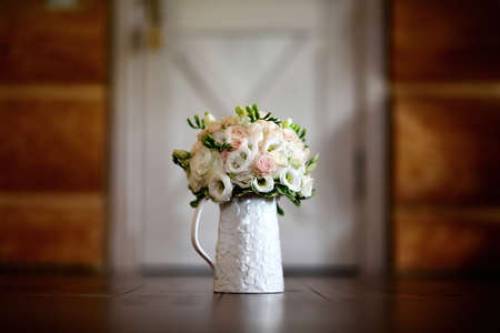 Photo for A bouquet of flowers on a mug - Royalty Free Image