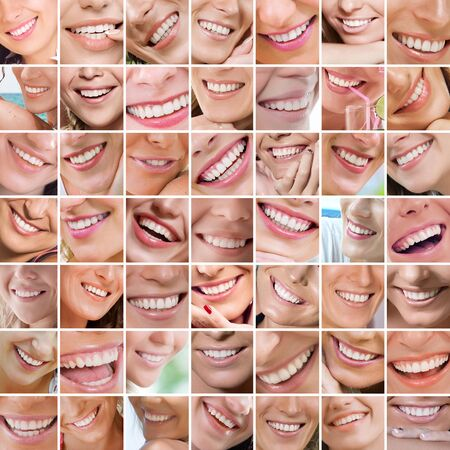 Smile theme collage composed of different images
