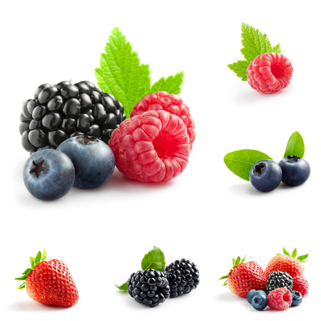 Photo for berry theme  mix composed of different images - Royalty Free Image
