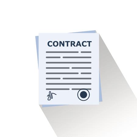 Photo pour contract document vector. - image libre de droit