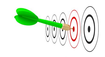 Photo pour dart arrow target goal reach 3D - image libre de droit