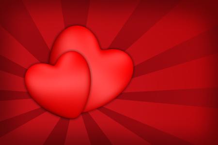 Photo pour Valentine's Day Valentines 3D hearts - image libre de droit