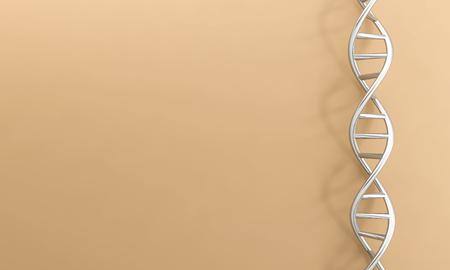 Photo pour DNA genetic background chrome 3D - image libre de droit
