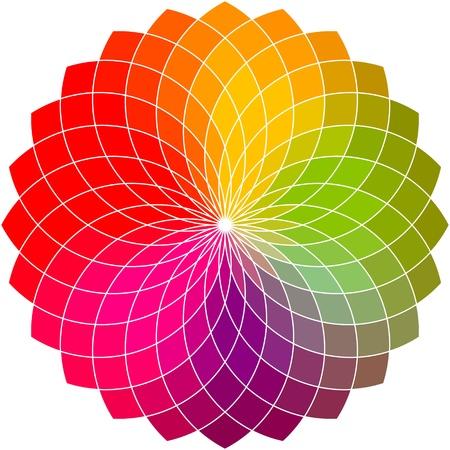 Ilustración de Color flower vector wheel  - Imagen libre de derechos