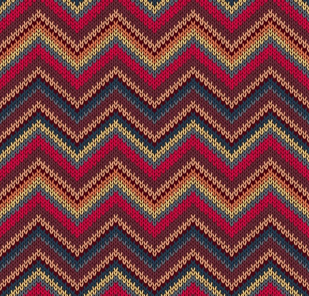 Foto de Red Blue Yellow Knit Texture , Beautiful Knitted Fabric Pattern - Imagen libre de derechos