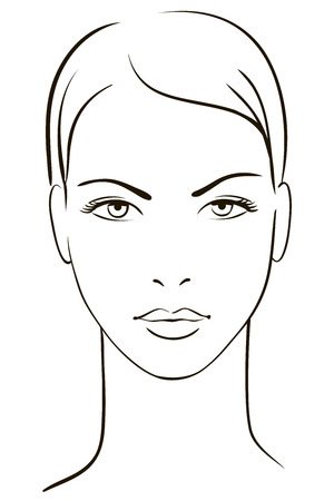 Illustration pour Young woman face - image libre de droit