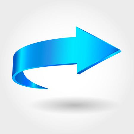 Ilustración de Blue arrow - Imagen libre de derechos