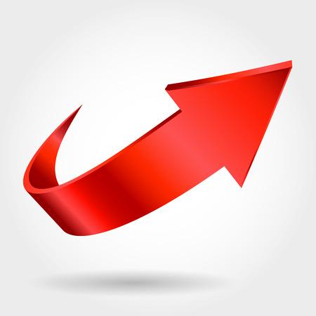 Illustration pour Red arrow - image libre de droit
