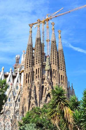 Foto de Barcelona, Spain. Cathedral  Sagrada Familia by Gaudi - Imagen libre de derechos