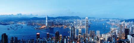 Photo pour Hong Kong victoria harbour - image libre de droit