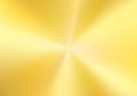 Illustration pour Gold Brushed metal background, Vector - image libre de droit