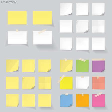 Illustration pour Set of memo Vector - image libre de droit