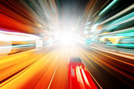 Photo pour night traffic - image libre de droit