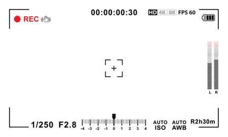 Illustration pour Video camera viewfinder template - image libre de droit