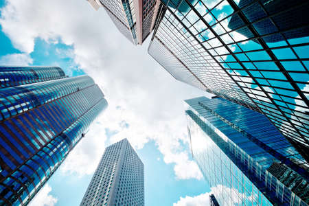Photo for Modern glass skyscrapers perspective in the city - Royalty Free Image