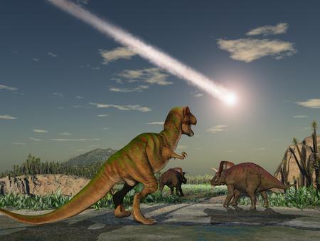 Photo pour Asteroid that wiped out the dinosaurs - image libre de droit