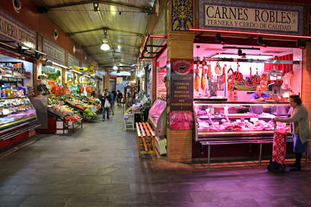 Photo for Market hall Mercado de Triana, Seville, Andalusia, Spain - Royalty Free Image