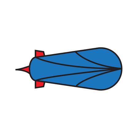 Illustration pour zeppelin tv icon on a white background. vector illustration design. - image libre de droit