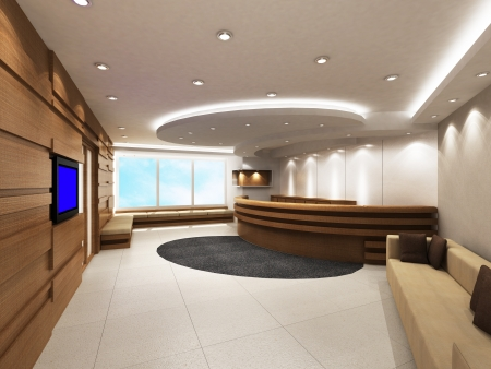 Photo for Office Entrance Area with reception counter - Royalty Free Image